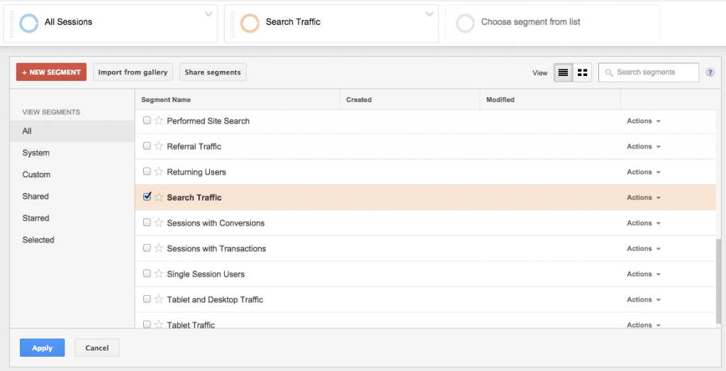 Google Analytics segmentering