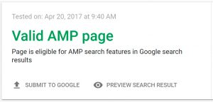 Valid AMP PAges fail