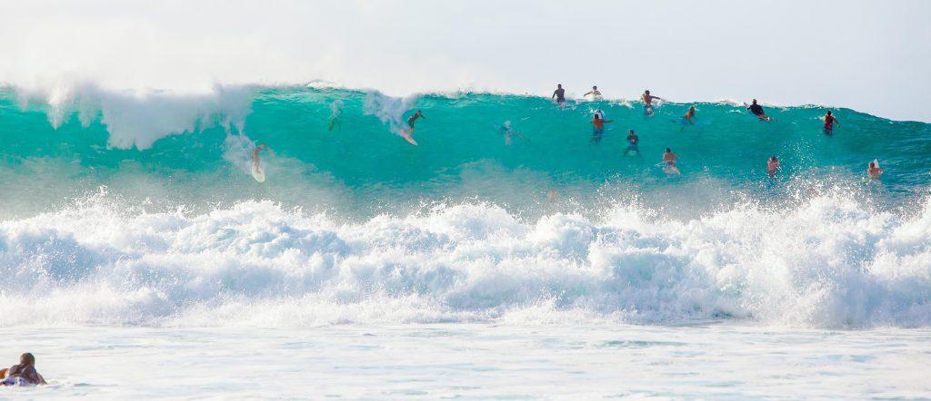 Waimea Beach - surf bølge