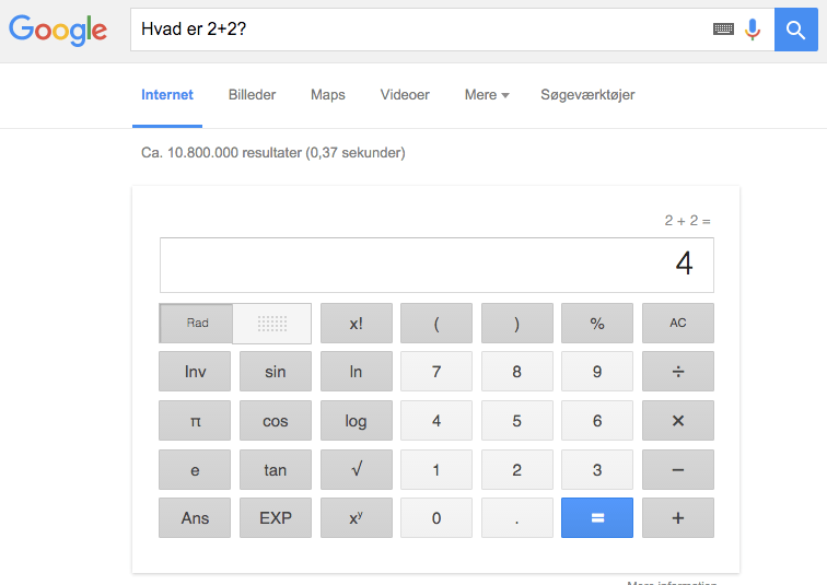 Google: Svarmaskine