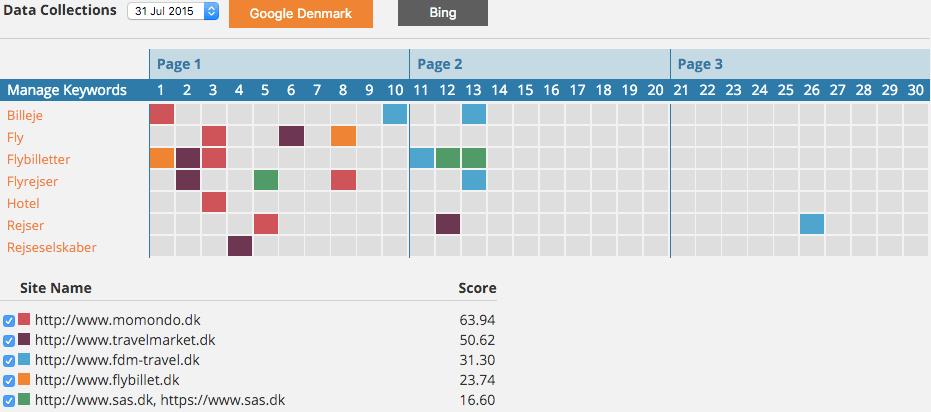SEO Monitor - Ranking Report
