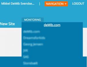 SEO Monitor - navigation