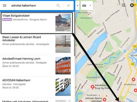 Google Maps - Promoted Pins - i nærheden af