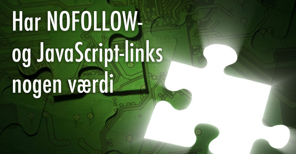 NOFOLLOW og Javascript links - linkbuilding