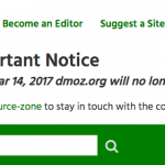 Open Directory Project (dMoz) lukker