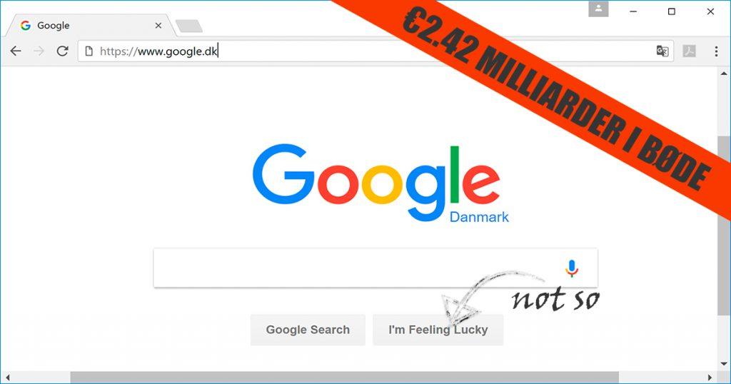 Google EU bøde