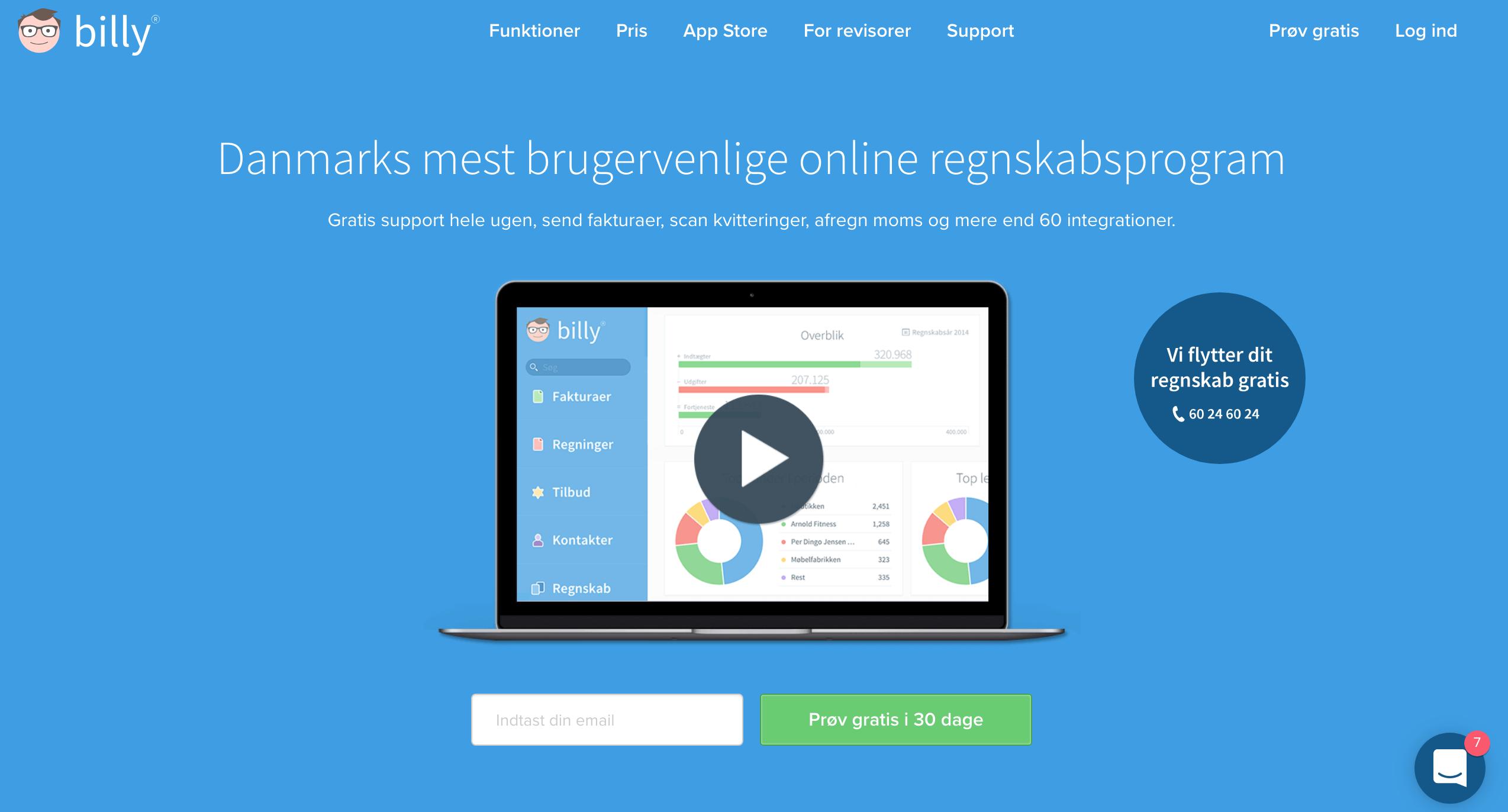 billy.dk-hjemmeside