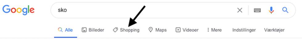 Google-shopping-sko-søgning